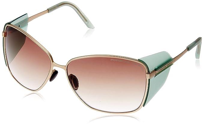 Porsche DESIGN P8599-C (63 mm) Gafas de sol, Oro, medium ...