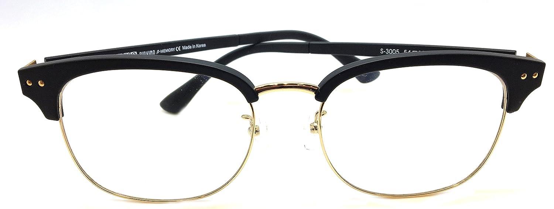 54e4f86b1c Amazon.com  Piovino Prescription Eyeglasses PV S-3005 Black Metal Ultem  Frames  Clothing