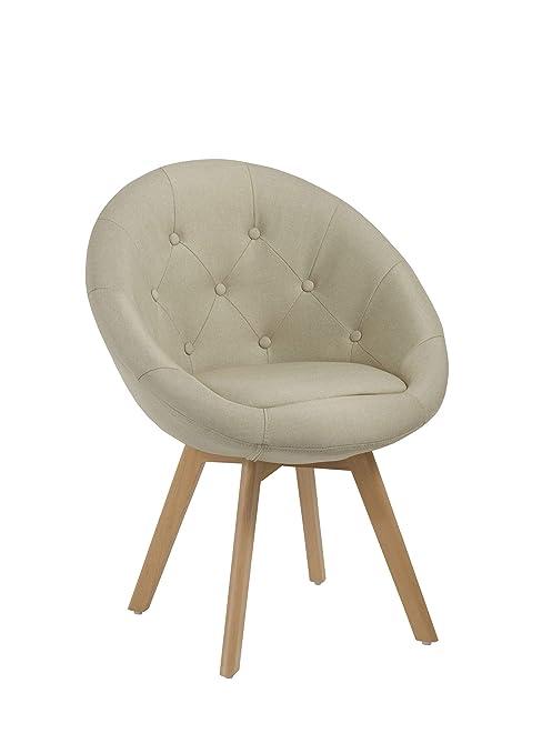 Stuhl 509g Mit Duhome Creme Stoffbezug Sessel Esszimmerstuhl Retro Beige Küchenstuhl Farbauswahl Holzbeinen 0Oy8NPwvmn