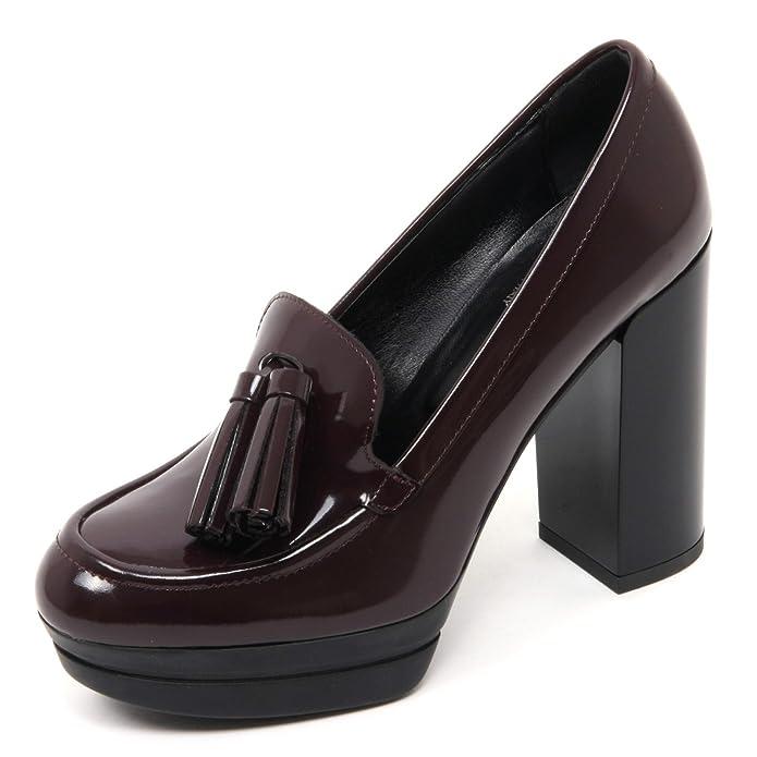 B7362 decollete donna HOGAN H299 OPTY scarpa bordeaux shoe woman