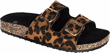 5aa2b286681f ANNA Home Collection Women s Casual Buckle Straps Sandals Flip Flop  Platform Footbed
