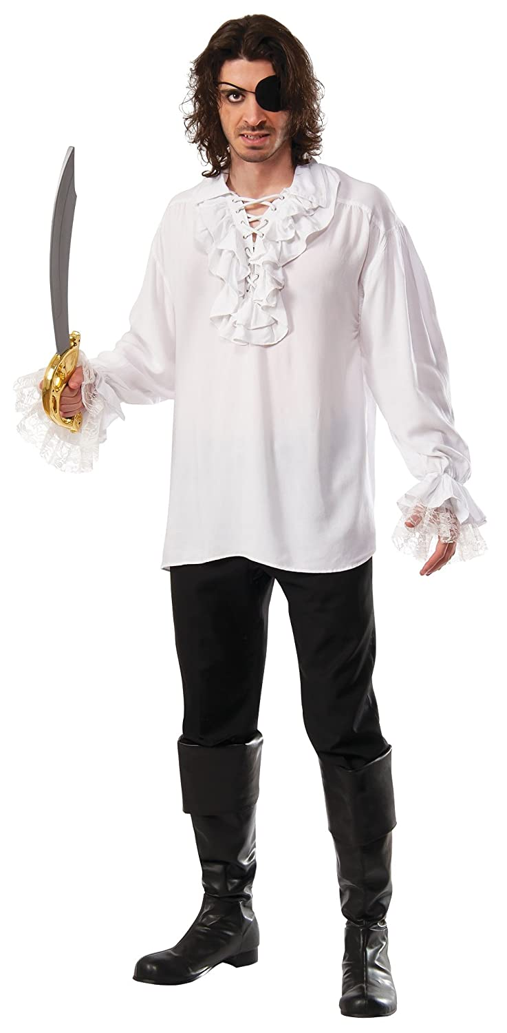 Men's Steampunk Clothing, Costumes, Fashion Rubies Ruffled Pirate Shirt $36.00 AT vintagedancer.com