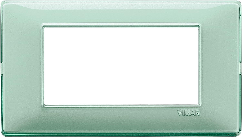 VIMAR 14654.44 PLACCA 4 MODULI REFLEX MENTA SERIE PLANA