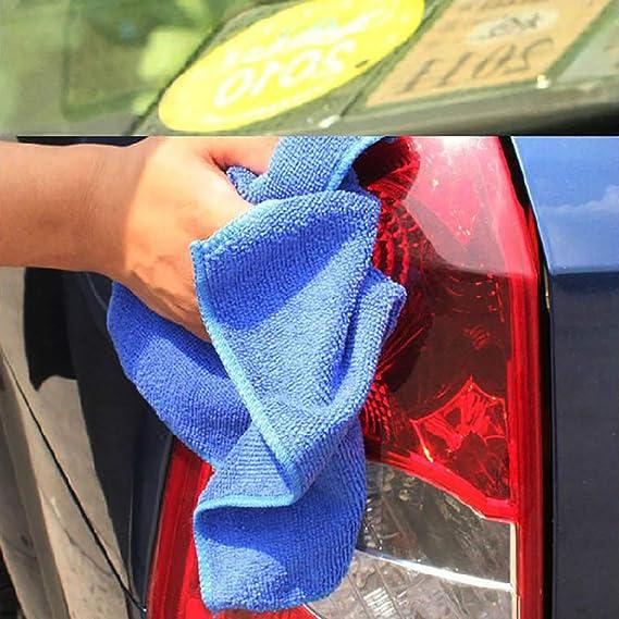 EZSTAX Limpieza de Coche Set Cuidado de Coche Set Lavado de Coche Set Tela de Fibra Cepillo para Polvo Cepillo de Llanta Limpiaparabrisas 7 Piezas