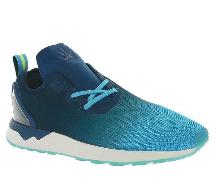 be8949132 Amazon.com  Adidas - ZX Flux Adv Asymmetric - S79056 - Color  Navy  blue-Light blue-Blue - Size  8.5  Shoes