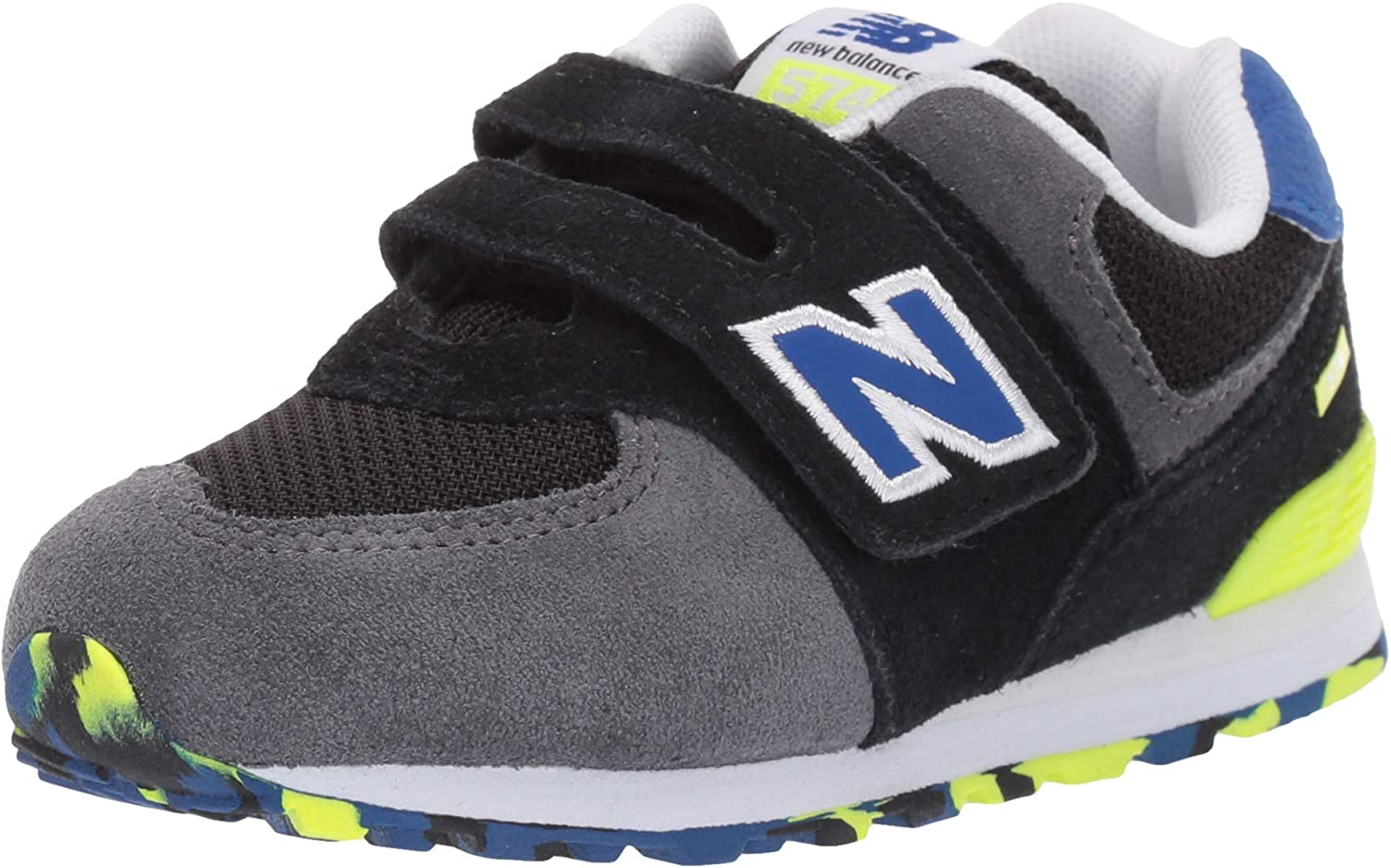 cuerno Bebé Diez  New Balance Boys Iconic 574 Hook and Loop Sneaker: Amazon.co.uk: Shoes &  Bags