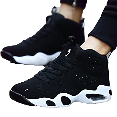 Fashion-Lover Men Sports Shoes Running Korean hovershoes Zapatillas Hombre Deportiva Men Sneakers,Black