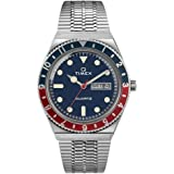 Timex 38 mm Q Timex Reissue Stainless Steel Case Blue Dial Stainless Steel Bracelet
