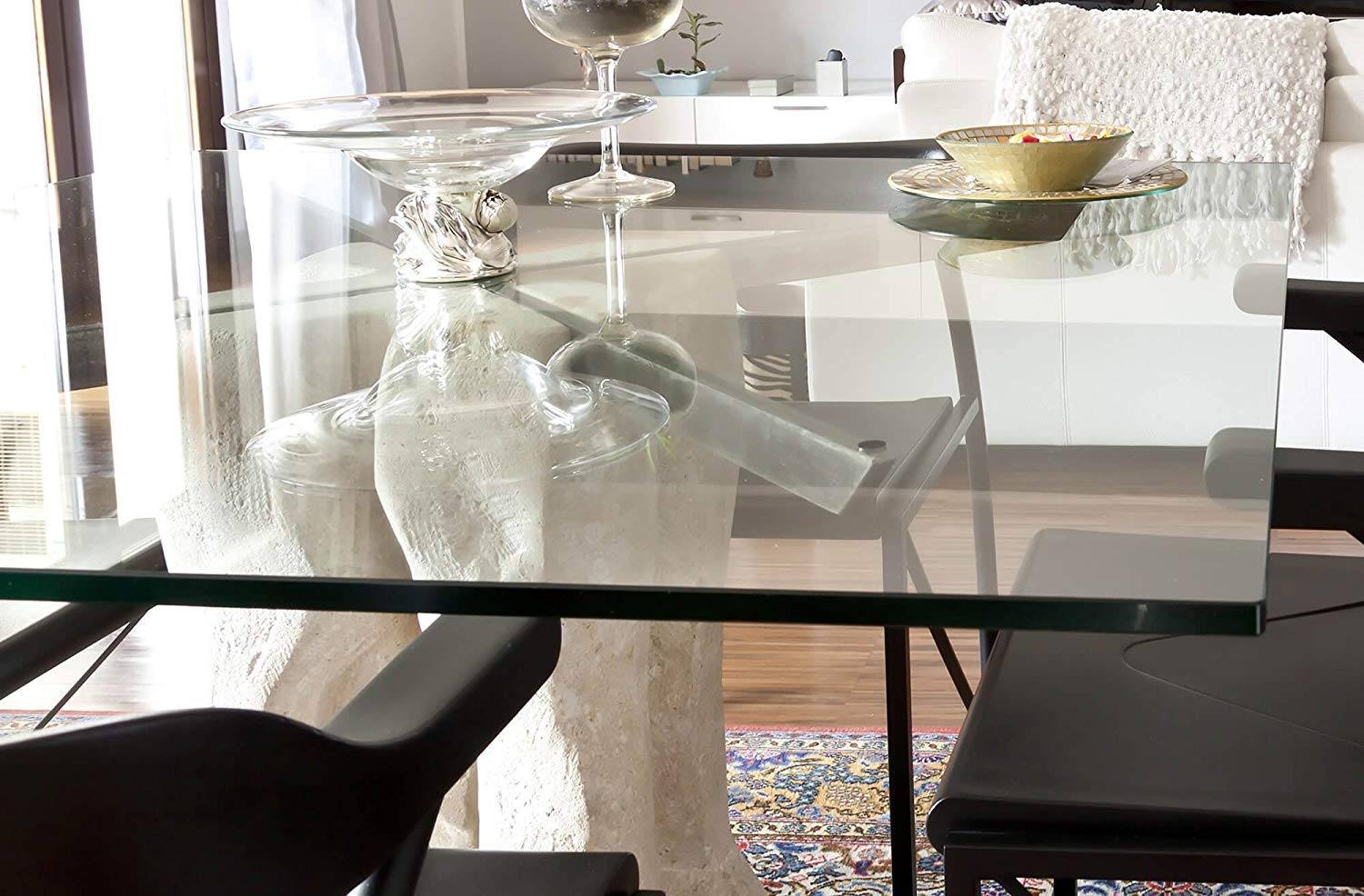 Fab Glass and Mirror 36x72RECT6THFLTE-T Rectangle Glass Table Top 36 X 72 Clear