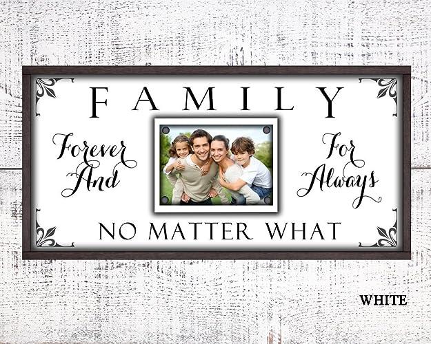Amazon.com: 12x24 Family Forever For Always No Matter what custom ...