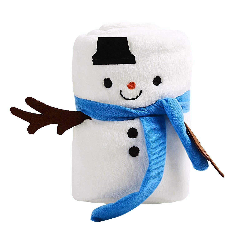 Ohuhu coperta natalizia, con disegno pupazzo di neve