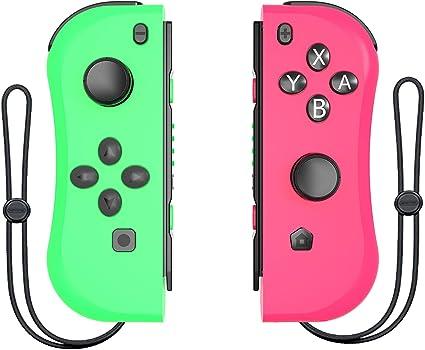 DerLin Joy-con (L/R) Controladores de Repuesto para Nintendo Switch, Wireless Joy con Pad Joysticks: Amazon.es: Electrónica