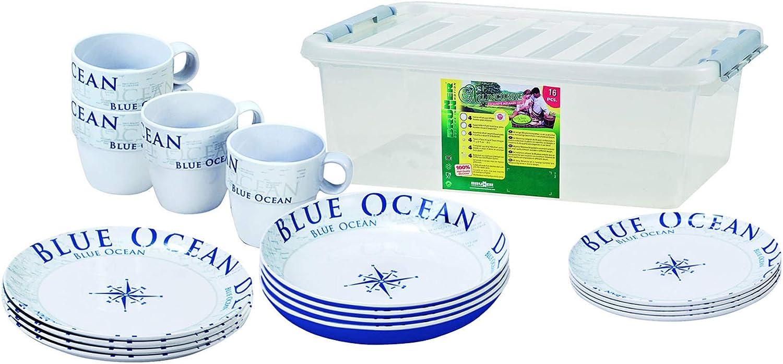BRUNNER Campingartikel Stack Box Blue Ocean Antislip