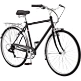 Schwinn Wayfarer Adult Hybrid Bike Retro-Styled Cruiser, Step-Through and Step-Over Steel Frame, 7-Speed Drivetrain, Rear Rac