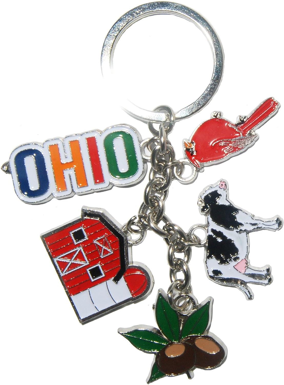 State of Alabama 5 Charm Keychain