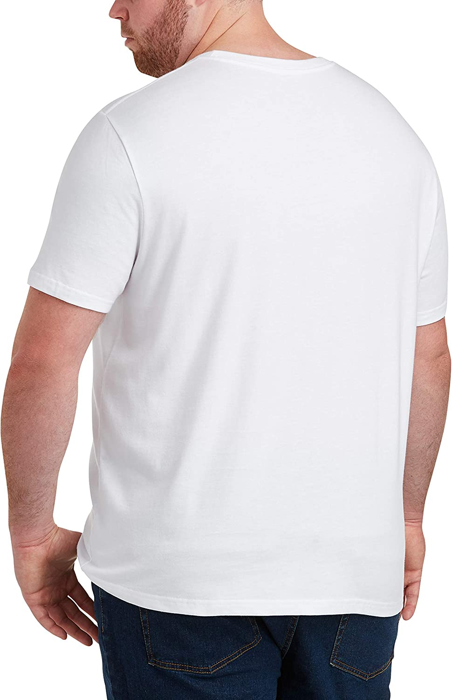 Essentials Men's Big & Tall 2-Pack Short-Sleeve Crewneck T-Shirt fit by DXL: Clothing
