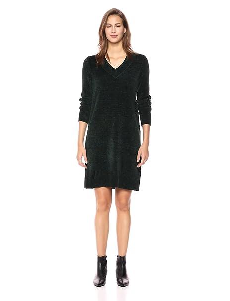 613deed4617 Nine West Women s Long Sleeve V Neck Sweater Dress at Amazon Women s ...
