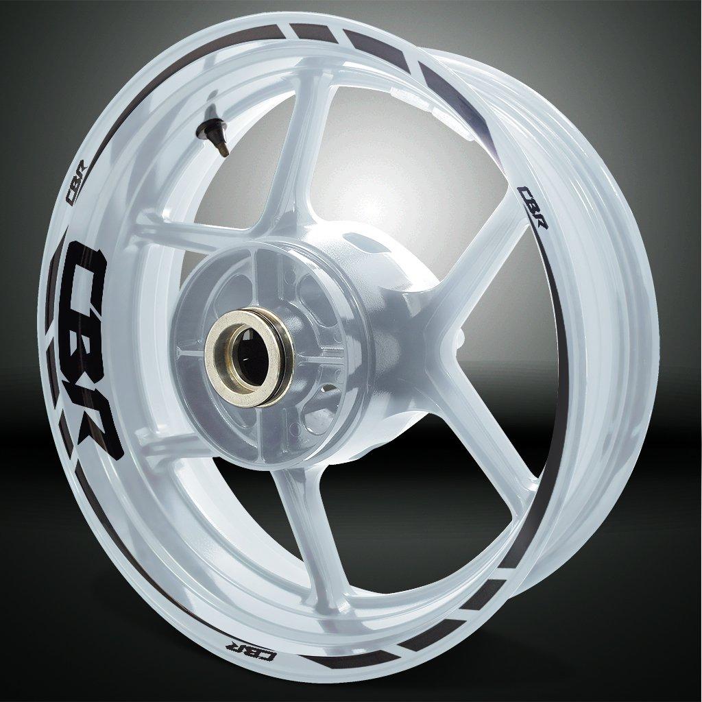 Honda CBR Gloss Black Motorcycle Rim Wheel Decal Accessory Sticker