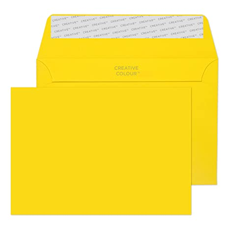 Box Of 250 Green C6 Peel /& Seal Coloured Envelopes 114 x 162mm 100gsm