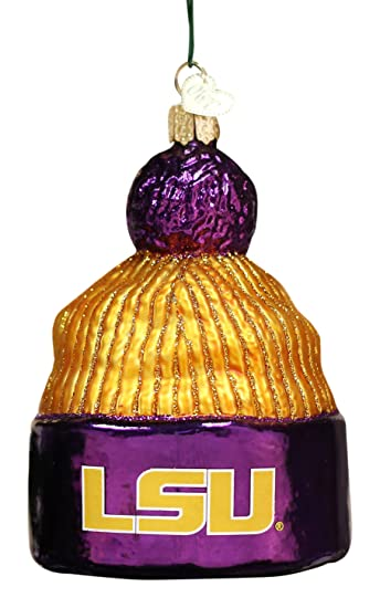 Old World Christmas Ornaments: LSU Beanie Glass Blown Ornaments for  Christmas Tree - Amazon.com: Old World Christmas Ornaments: LSU Beanie Glass Blown