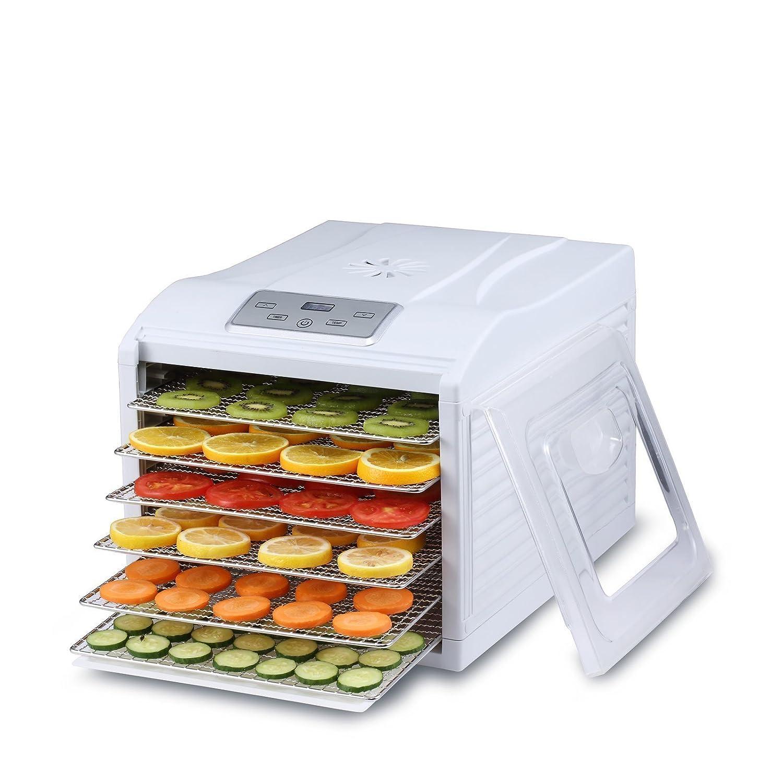 Deshidratador de alimentos BioChef Arizona Sol - 6 Bandejas Acero Inoxidable, 500W, Temporizador, Temperatura 35-70º, Deshidratadora, Yogurtera, BPA ...