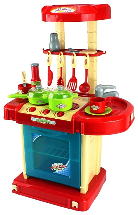 Superieur GT Super Kitchen Childrenu0027s Kidu0027s Pretend Play Toy Kitchen Playset W/ Pot,  Pan,