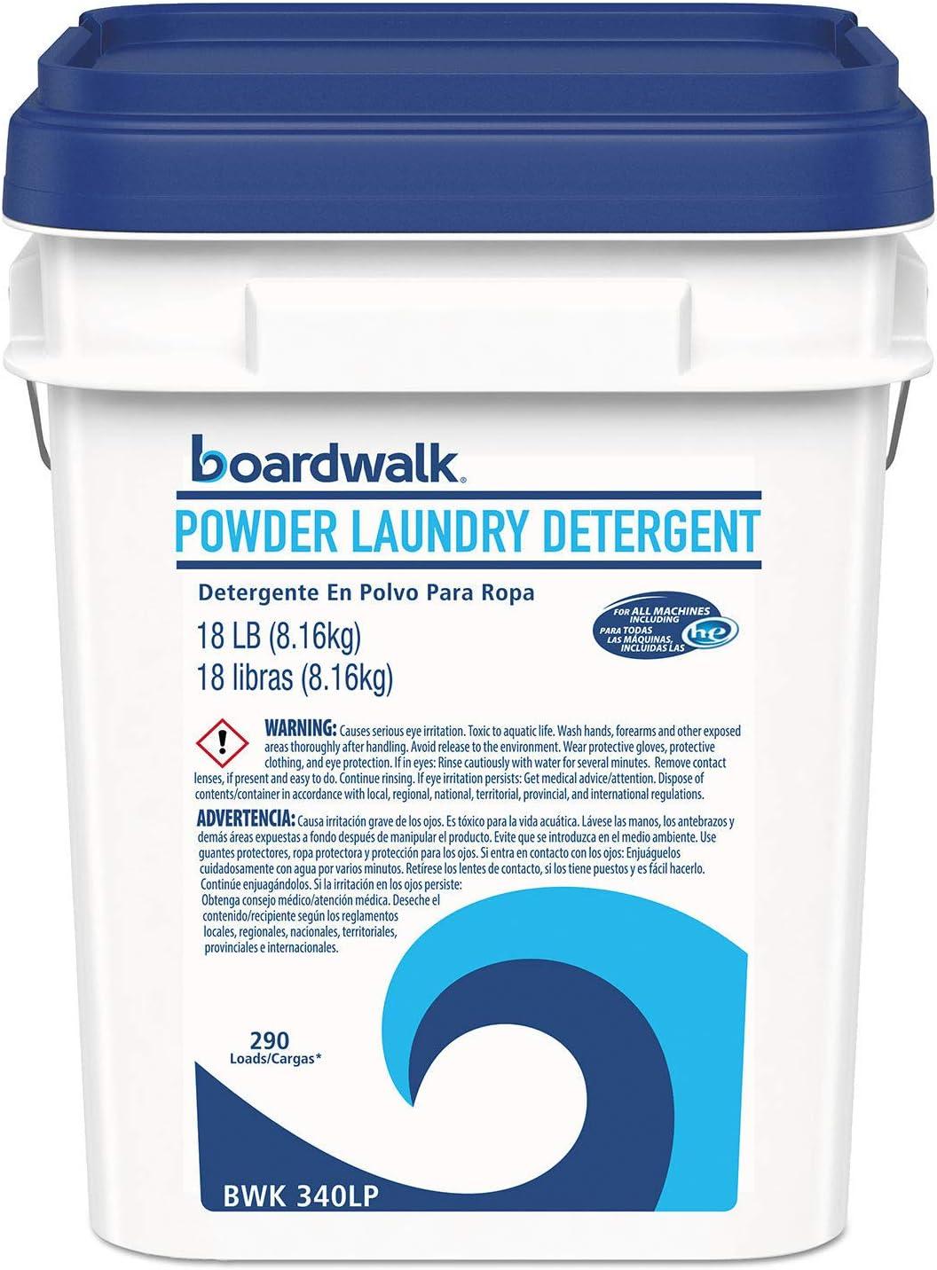 Laundry Detergent Powder, Crisp Clean Scent, 18 lb Pail