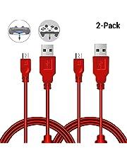 2 Stück 3m Ladekabel für PlayStation 4/ PS4/ PS4 Slim/ PS4 Pro/ Xbox One/ One S/ One Elite/ One X Controllers, Perfekte Länge USB auf Micro USB Kabel (Spielen und Laden)