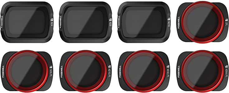Freewell ALD Camera Lens Filters ND4, ND8, ND16, CPL, ND8/PL, ND16/PL, ND32/PL, ND64/PL For DJI Osmo Pocket 8 Pack