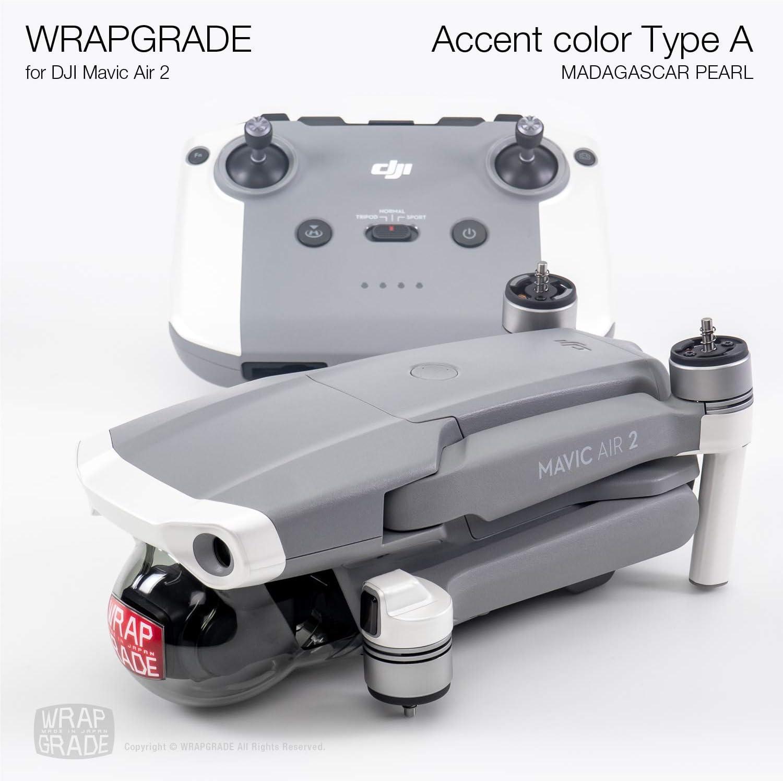 Wrapgrade Skin Sticker Set Compatible with DJI Mini 2 STEALTH BLACK