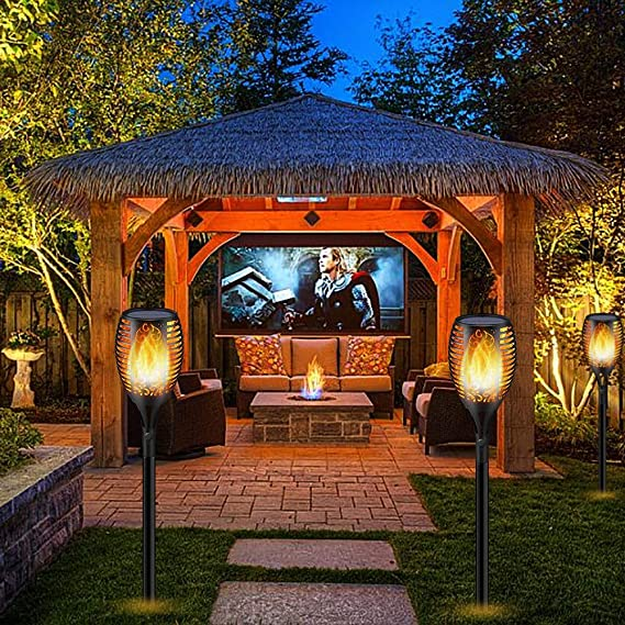 Luces Antorchas Solares de Llamas Jardín Exterior, Lámpara ...