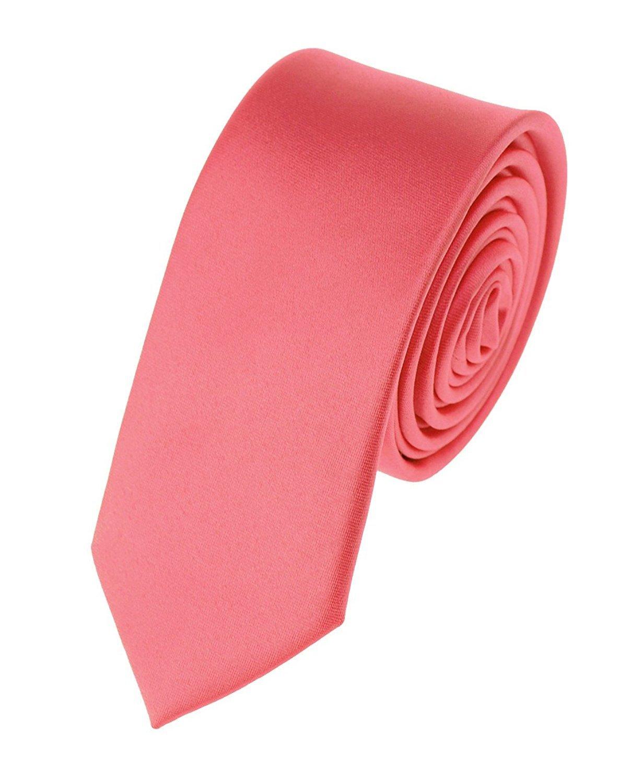 NYfashion101 Mens Solid Color 2 Skinny Tie- Aqua SK74- Aqua