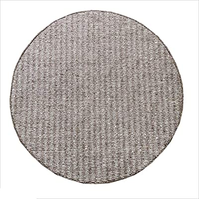 XI HOME Round Carpet Computer Chair Bay Window Living Room Coffee Table Bedroom Thick Striped Anti-Slip Carpet (Size : 80cm)