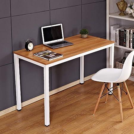 Oferta amazon: Need Escritorios 120x60cm Mesa de Ordenador Escritorio de Oficina Mesa de Estudio Puesto de Trabajo Mesa de Despacho, Teca Roble & Blanco