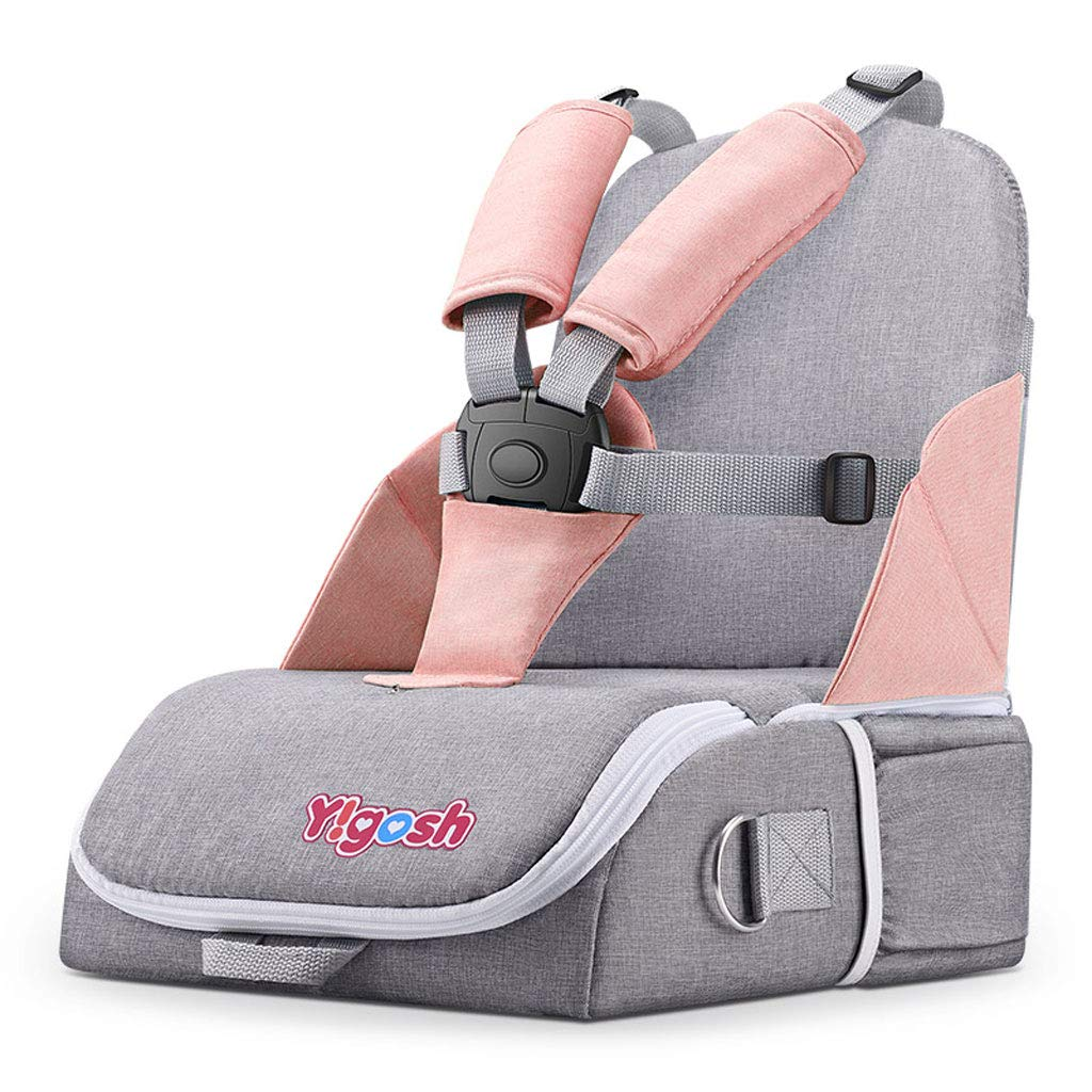 Travel Bag with Backpack Shoulder Straps for Strollers, Car Seats, Pushchairs, Boosters, Infant Carriers and Wheelchairs, Water Resistant - Great for Airplane and Storage (Color : Light Pink)