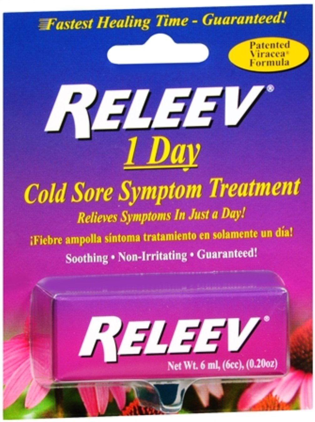 RELEEV 1 Day Cold Sore Treatment 6 mL (Pack of 6) by Releev