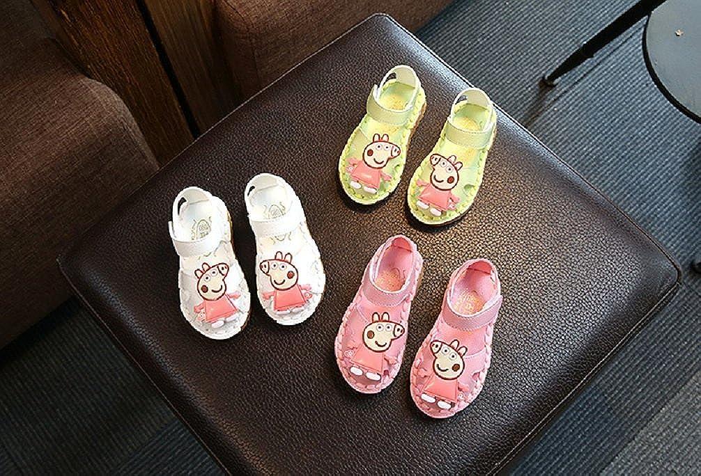 Toddler//Little Kid Bakerdani Girls Cartoon Cute Closed Toe Walking Sandals