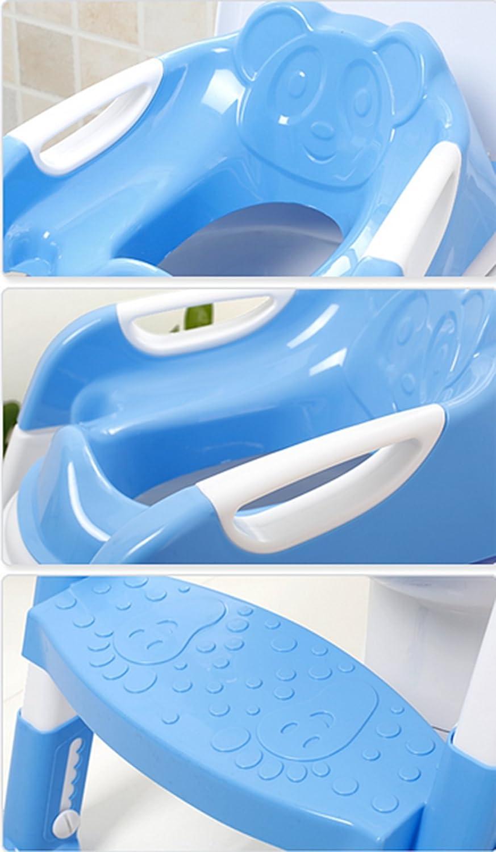 Jingyuu Si/ège de Toilette Enfant Pliable Reducteur Toilette Enfant Anti-d/érapant Adaptateur Toilette Ennfant Rehausseur WC Enfant Reducteur de Toilette avec Marche pour Gar/çons et Filles Rosa
