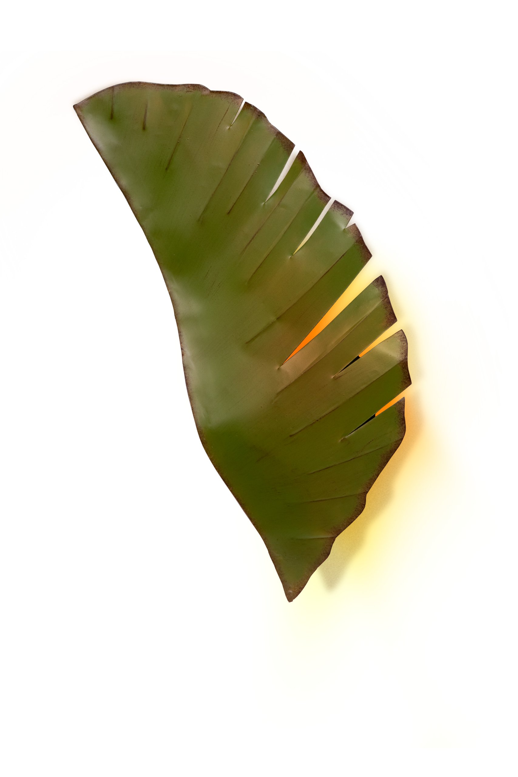 Varaluz 901K02 Banana Leaf 2-Light Wall Sconce - Banana Leaf Finish