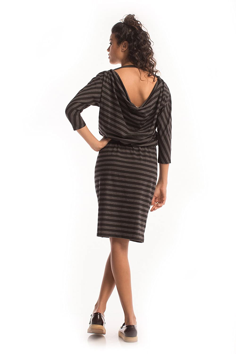 Heathered Gallery Dress in Black - Synergy Organic Clothing