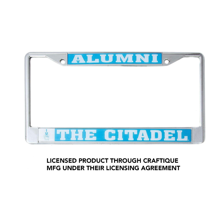 Desert Cactus The Citadel University College Alumni Metal License Plate Frame for Front Back of Car Officially Licensed Bull Dogs Craftique