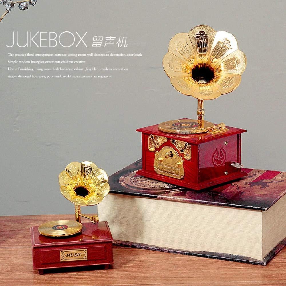 Retro tocadiscos europeo fonógrafo caja de música caja de música ...