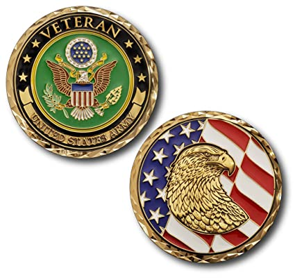 a8e3f3c17a9 Amazon.com  Armed Forces Depot U.S. Army Veteran Challenge Coin ...