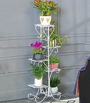 ZHANWEI Etagère de Fleur Pot de Fleur étagère en Fer 5  étage