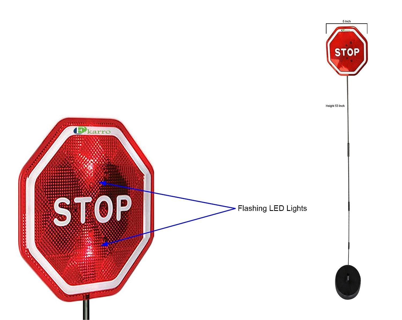 Ekarro Flashing Led Light Parking Stop Sign For Garage Battery Status Indicator Assistant Signpack Of 2 Automotive