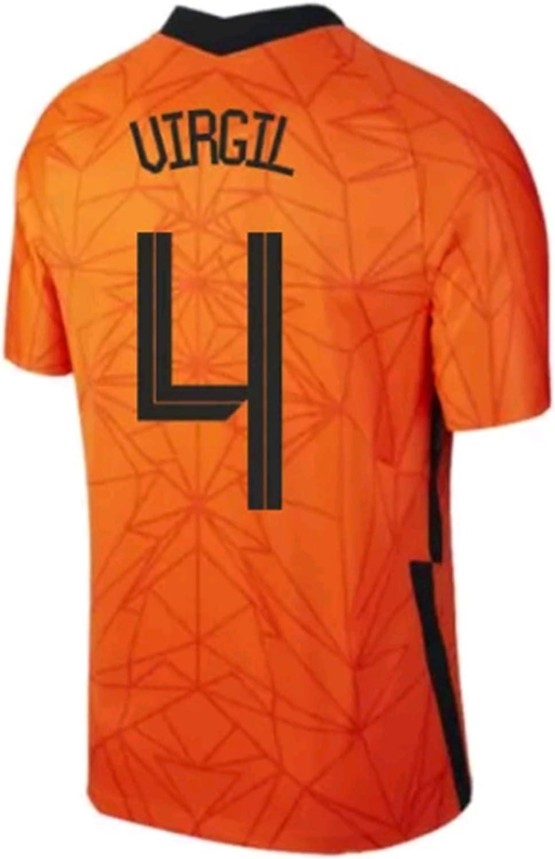 LISIMKEM 2020-2021 Men's Home Soccer Jersey/Short Colour Orange