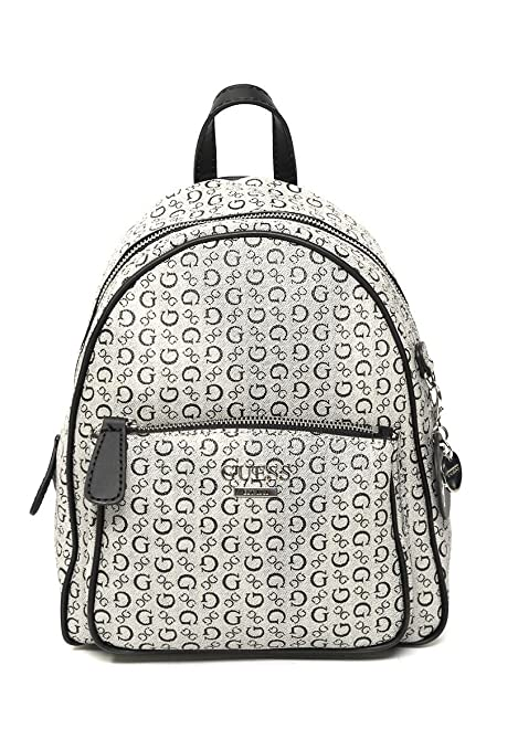 comprar online 26535 33105 Guess- Backpack Gris Monograma Mochila para Mujer Gris Talla ...