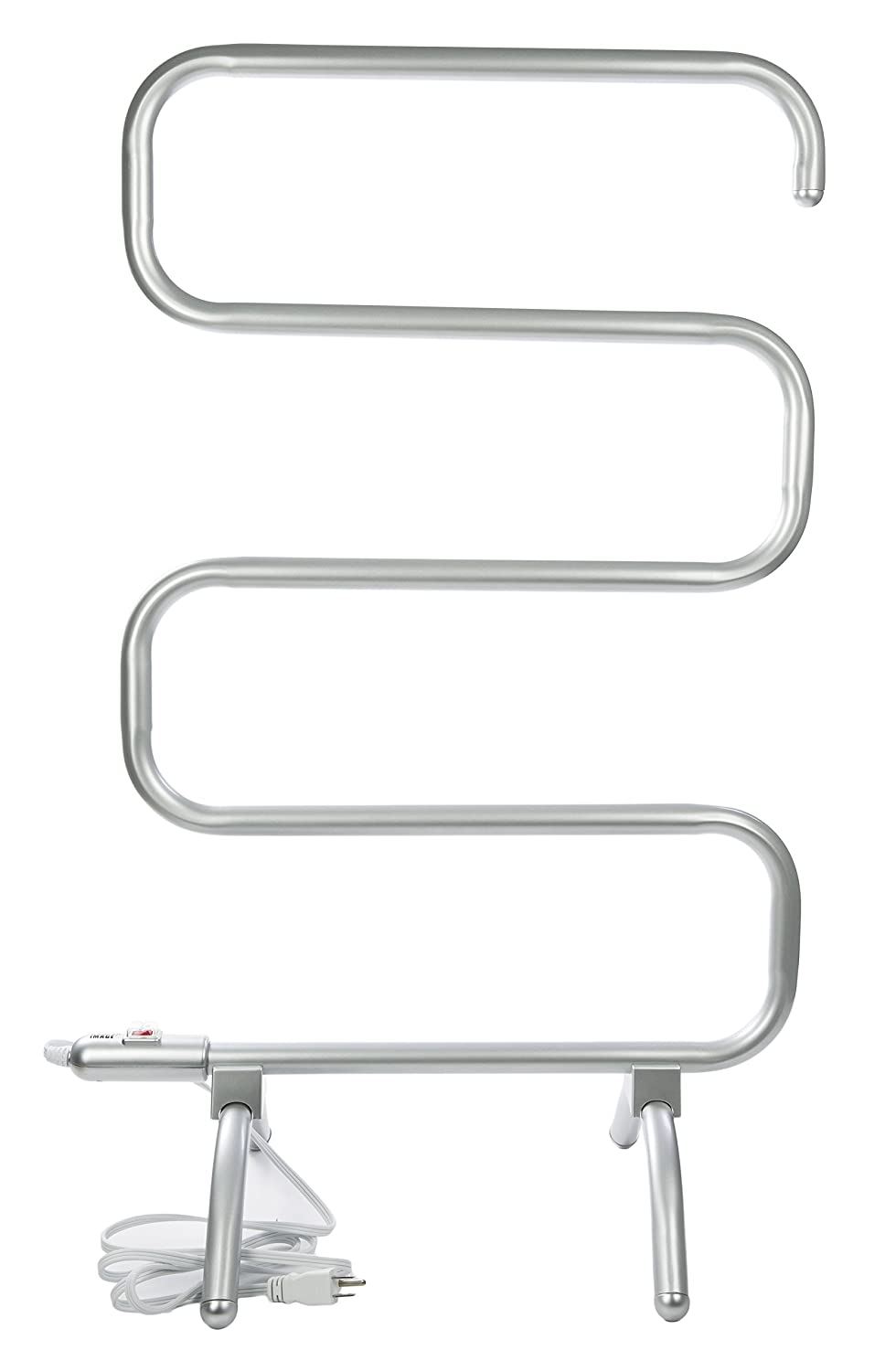 Sharper Image Curved Towel Warmer, Silver Ginsey Home Solutions 01283