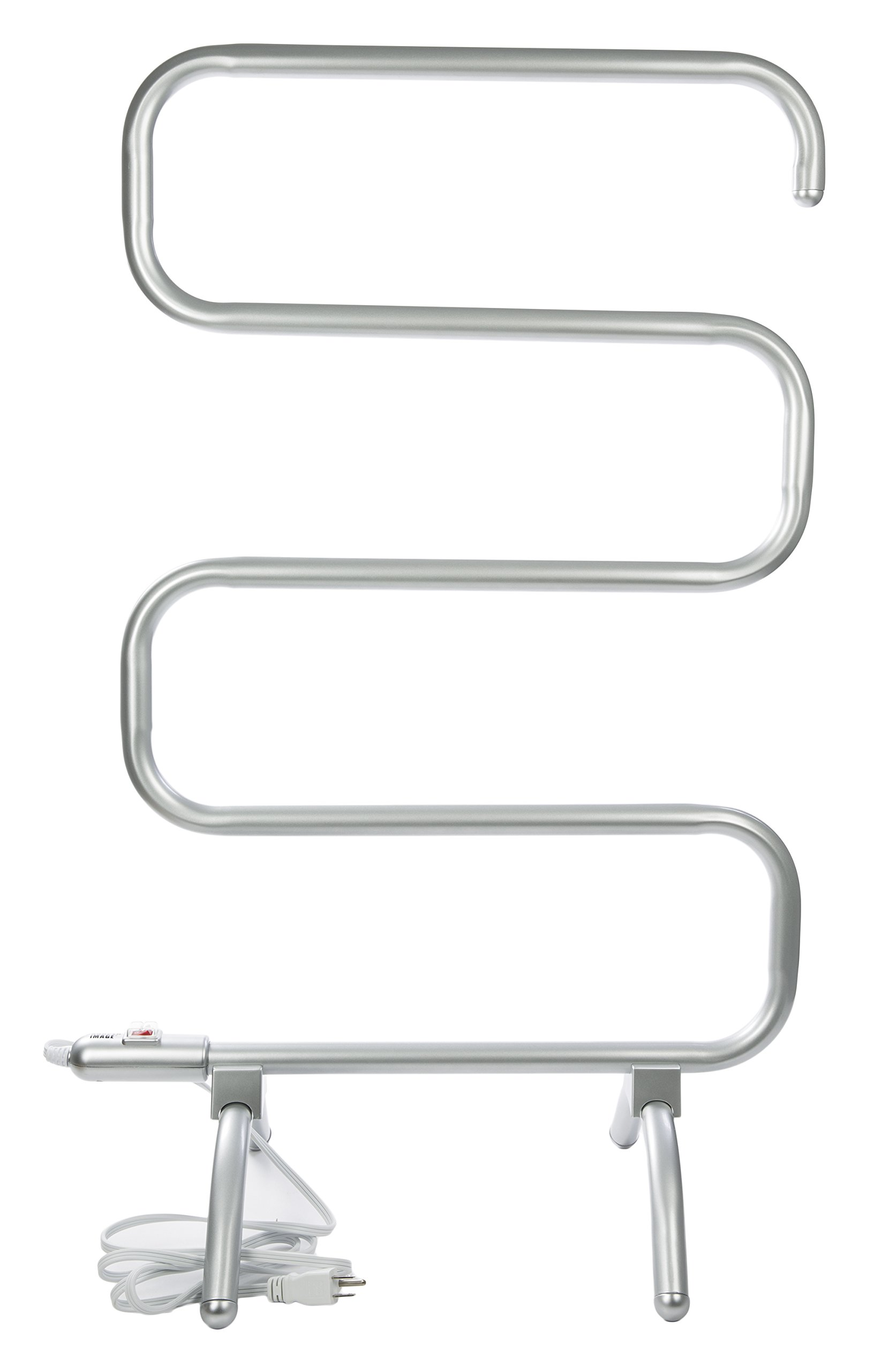 Sharper Image, Silver Curved Towel Warmer by Sharper Image