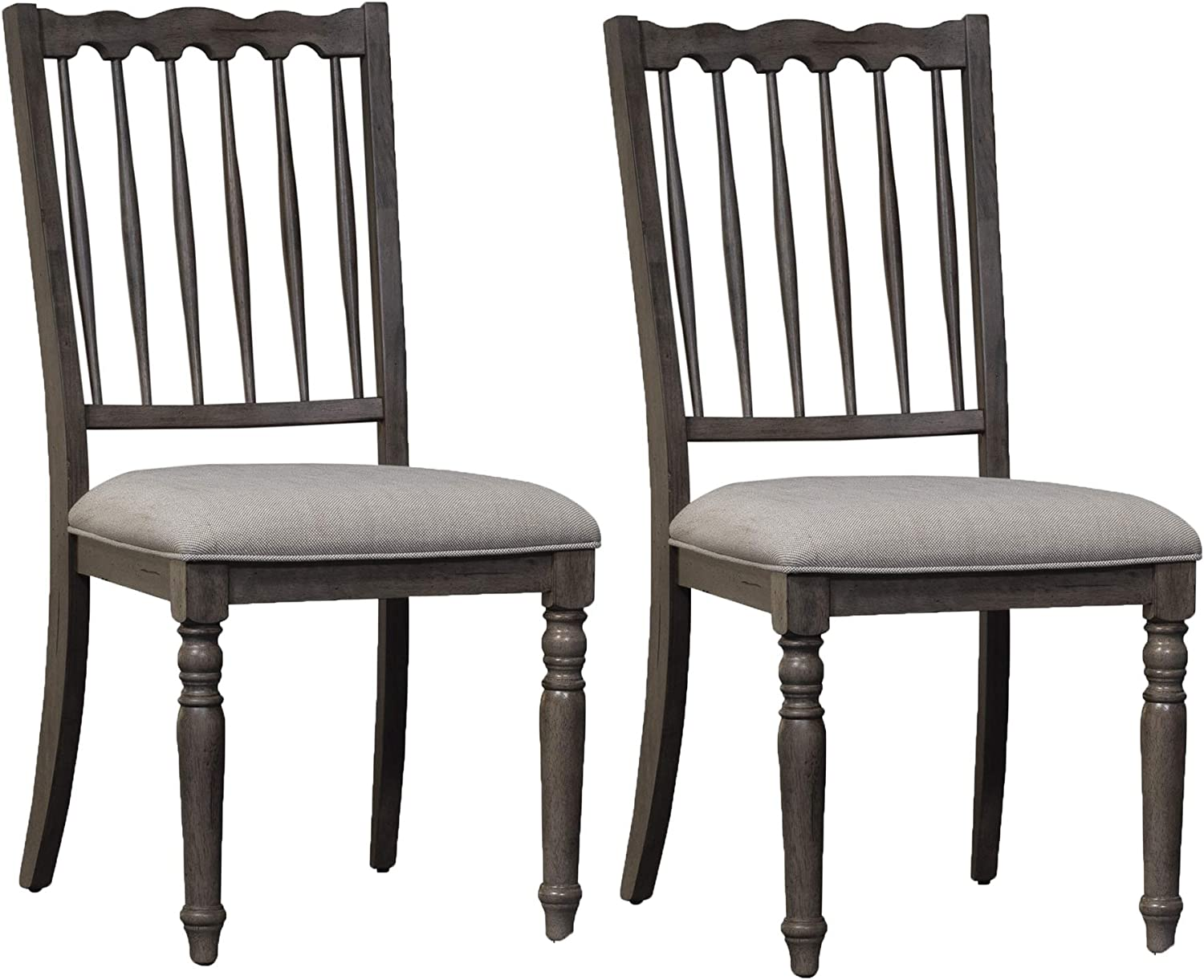 Liberty Furniture Industries Brandywine (Set of 2) Dining Chairs, Light Gray